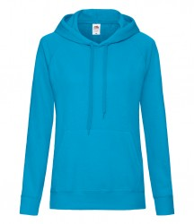 Image 2 of Fruit of the Loom Lady Fit Lightweight Hooded Sweatshirt