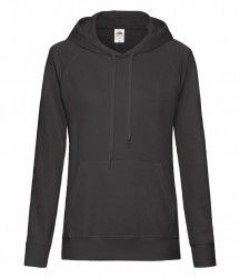 Image 3 of Fruit of the Loom Lady Fit Lightweight Hooded Sweatshirt