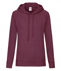 Image 5 of Fruit of the Loom Lady Fit Lightweight Hooded Sweatshirt