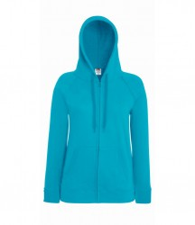 Image 13 of Fruit of the Loom Lady Fit Lightweight Zip Hooded Sweatshirt