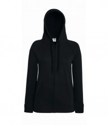 Image 2 of Fruit of the Loom Lady Fit Lightweight Zip Hooded Sweatshirt
