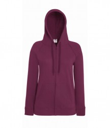 Image 3 of Fruit of the Loom Lady Fit Lightweight Zip Hooded Sweatshirt