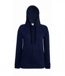 Image 4 of Fruit of the Loom Lady Fit Lightweight Zip Hooded Sweatshirt