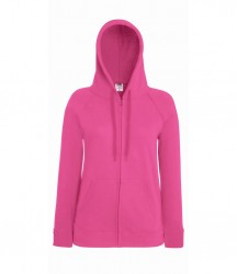 Image 5 of Fruit of the Loom Lady Fit Lightweight Zip Hooded Sweatshirt