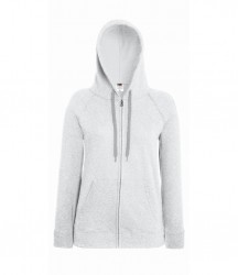 Image 6 of Fruit of the Loom Lady Fit Lightweight Zip Hooded Sweatshirt