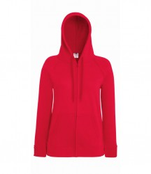 Image 10 of Fruit of the Loom Lady Fit Lightweight Zip Hooded Sweatshirt