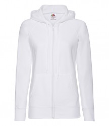 Image 12 of Fruit of the Loom Lady Fit Lightweight Zip Hooded Sweatshirt