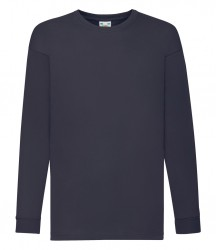 Image 4 of Fruit of the Loom Kids Long Sleeve Value T-shirt