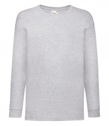 Image 5 of Fruit of the Loom Kids Long Sleeve Value T-shirt