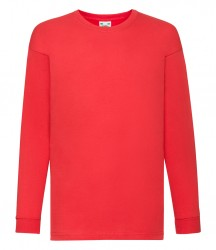 Image 6 of Fruit of the Loom Kids Long Sleeve Value T-shirt
