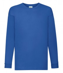 Image 7 of Fruit of the Loom Kids Long Sleeve Value T-shirt