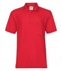 Image 5 of Fruit of the Loom Pocket Piqué Polo Shirt