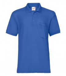 Image 6 of Fruit of the Loom Pocket Piqué Polo Shirt