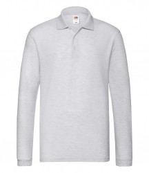 Image 2 of Fruit of the Loom Premium Long Sleeve Cotton Piqué Polo Shirt