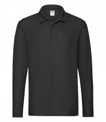 Image 3 of Fruit of the Loom Premium Long Sleeve Cotton Piqué Polo Shirt