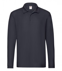 Image 4 of Fruit of the Loom Premium Long Sleeve Cotton Piqué Polo Shirt