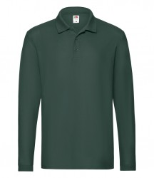 Image 5 of Fruit of the Loom Premium Long Sleeve Cotton Piqué Polo Shirt