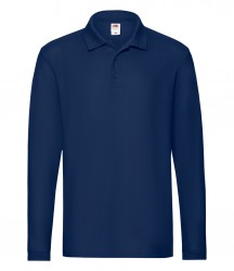 Image 6 of Fruit of the Loom Premium Long Sleeve Cotton Piqué Polo Shirt
