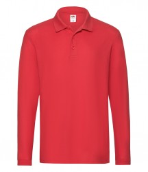 Image 7 of Fruit of the Loom Premium Long Sleeve Cotton Piqué Polo Shirt