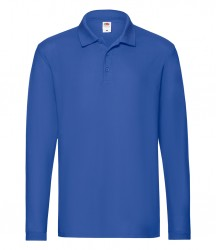 Image 8 of Fruit of the Loom Premium Long Sleeve Cotton Piqué Polo Shirt
