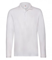 Image 9 of Fruit of the Loom Premium Long Sleeve Cotton Piqué Polo Shirt
