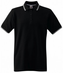 Image 2 of Fruit of the Loom Premium Tipped Cotton Piqué Polo Shirt