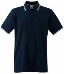 Image 3 of Fruit of the Loom Premium Tipped Cotton Piqué Polo Shirt