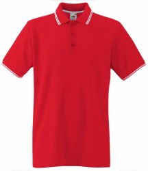 Image 4 of Fruit of the Loom Premium Tipped Cotton Piqué Polo Shirt