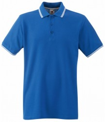 Image 5 of Fruit of the Loom Premium Tipped Cotton Piqué Polo Shirt