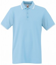 Image 6 of Fruit of the Loom Premium Tipped Cotton Piqué Polo Shirt