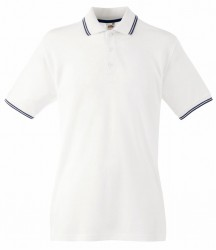 Image 7 of Fruit of the Loom Premium Tipped Cotton Piqué Polo Shirt