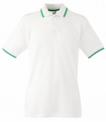 Image 8 of Fruit of the Loom Premium Tipped Cotton Piqué Polo Shirt