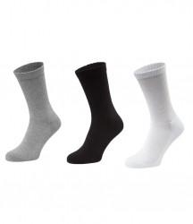 Image 3 of Fruit of the Loom 3 Pack Crew Socks