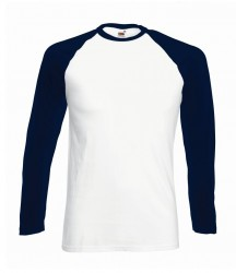 Image 5 of Fruit of the Loom Contrast Long Sleeve Baseball T-Shirt