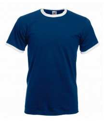 Image 3 of Fruit of the Loom Contrast Ringer T-Shirt