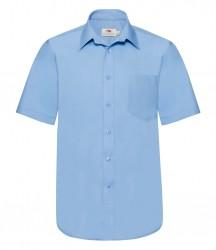 Image 3 of Fruit of the Loom Short Sleeve Poplin Shirt
