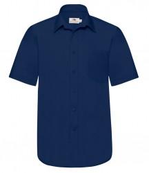 Image 4 of Fruit of the Loom Short Sleeve Poplin Shirt