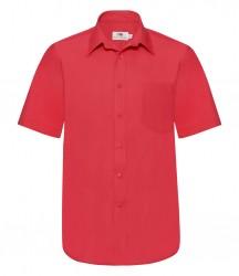 Image 5 of Fruit of the Loom Short Sleeve Poplin Shirt