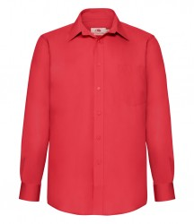 Image 5 of Fruit of the Loom Long Sleeve Poplin Shirt