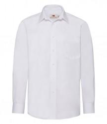 Image 6 of Fruit of the Loom Long Sleeve Poplin Shirt