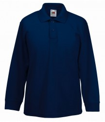 Fruit of the Loom Kids Long Sleeve Poly/Cotton Piqué Polo Shirt image