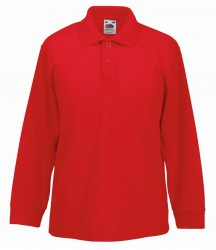 Image 6 of Fruit of the Loom Kids Long Sleeve Poly/Cotton Piqué Polo Shirt