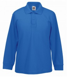 Image 7 of Fruit of the Loom Kids Long Sleeve Poly/Cotton Piqué Polo Shirt