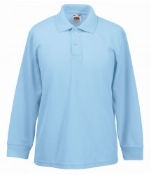 Image 8 of Fruit of the Loom Kids Long Sleeve Poly/Cotton Piqué Polo Shirt