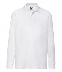 Image 9 of Fruit of the Loom Kids Long Sleeve Poly/Cotton Piqué Polo Shirt