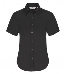 Image 2 of Fruit of the Loom Lady Fit Short Sleeve Oxford Shirt