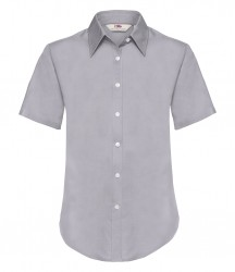 Image 3 of Fruit of the Loom Lady Fit Short Sleeve Oxford Shirt