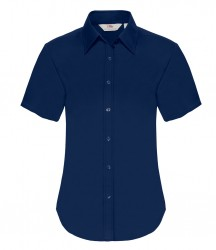 Image 4 of Fruit of the Loom Lady Fit Short Sleeve Oxford Shirt