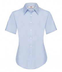 Image 5 of Fruit of the Loom Lady Fit Short Sleeve Oxford Shirt