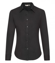 Image 2 of Fruit of the Loom Lady Fit Long Sleeve Oxford Shirt